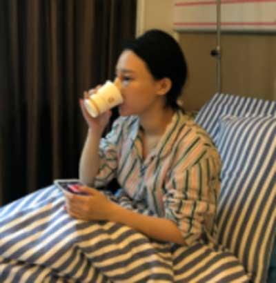 郑州东方整形医院黄军伟为我做的鼻综合整形手术后第1天